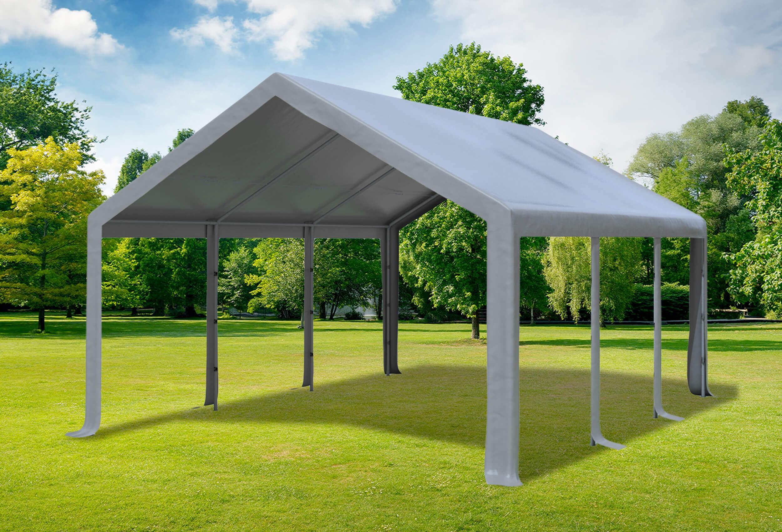 4x6 m partyzelt pvc modular pro pvc grau profi zelt. Black Bedroom Furniture Sets. Home Design Ideas