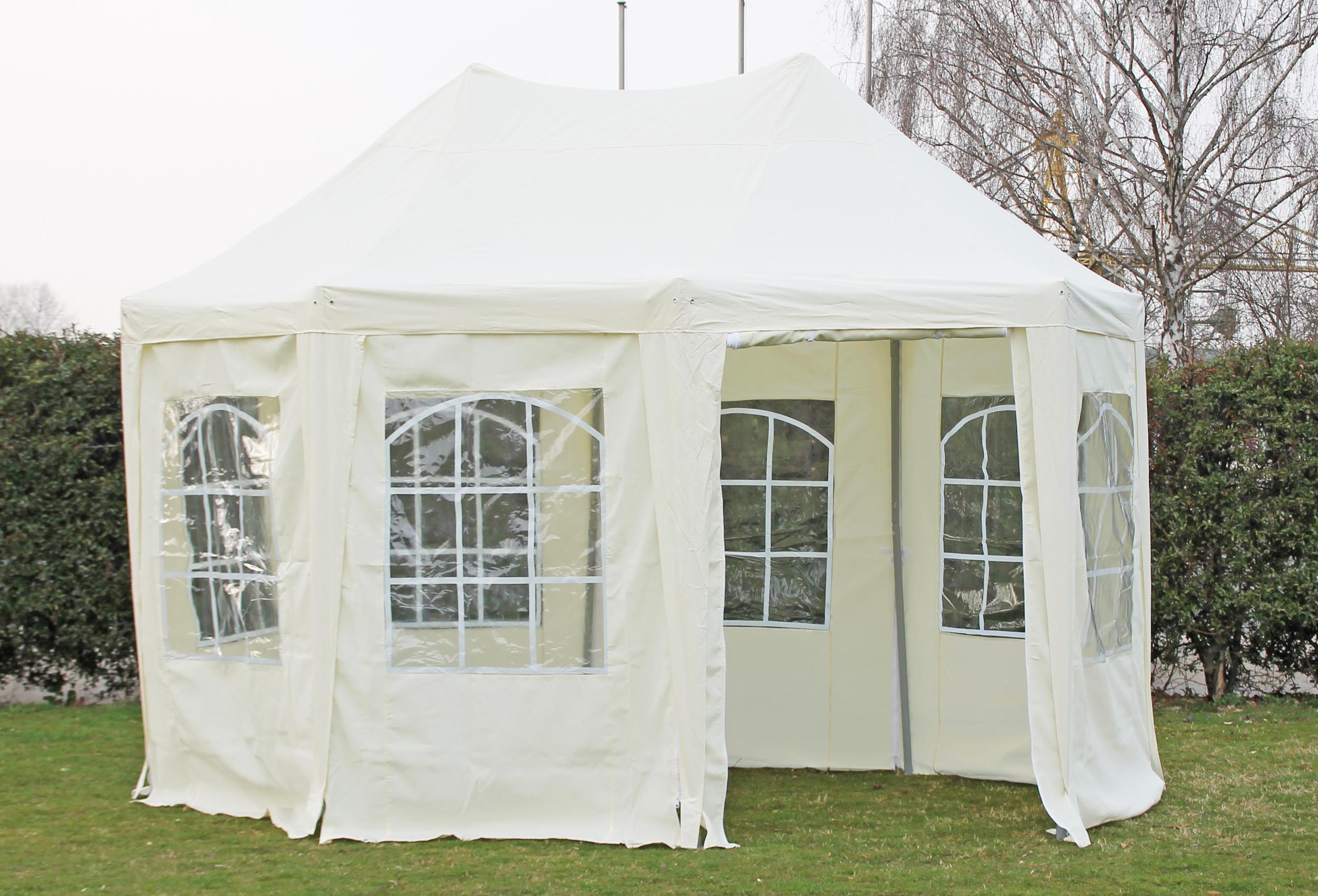pavillon 3x4 1 meter arabica polyester beige inkl. Black Bedroom Furniture Sets. Home Design Ideas
