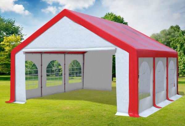 5x6 m Partyzelt, PVC rot weiß