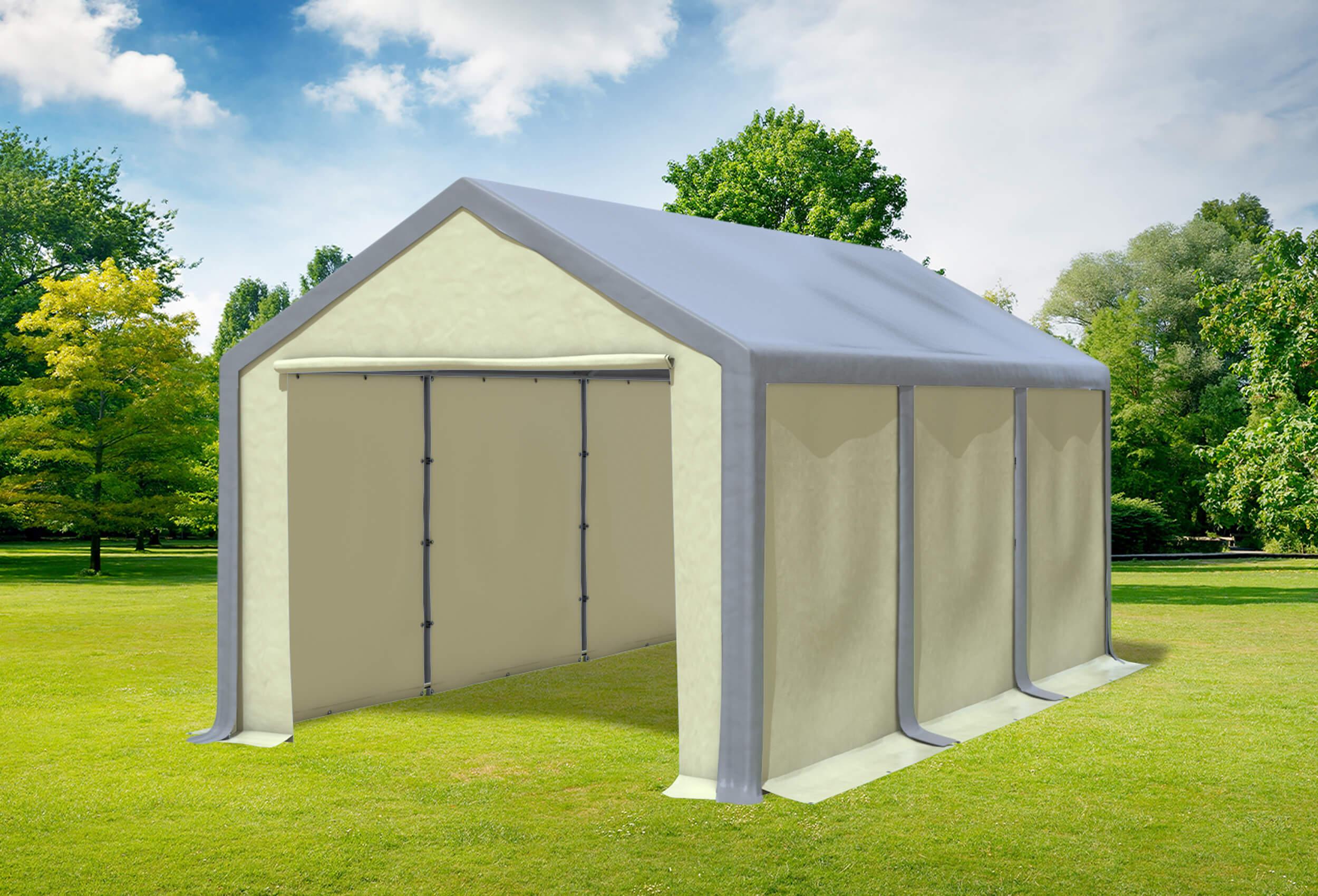 3x6 m partyzelt pvc modular pro pvc grau beige profi zelt versandkostenfrei. Black Bedroom Furniture Sets. Home Design Ideas