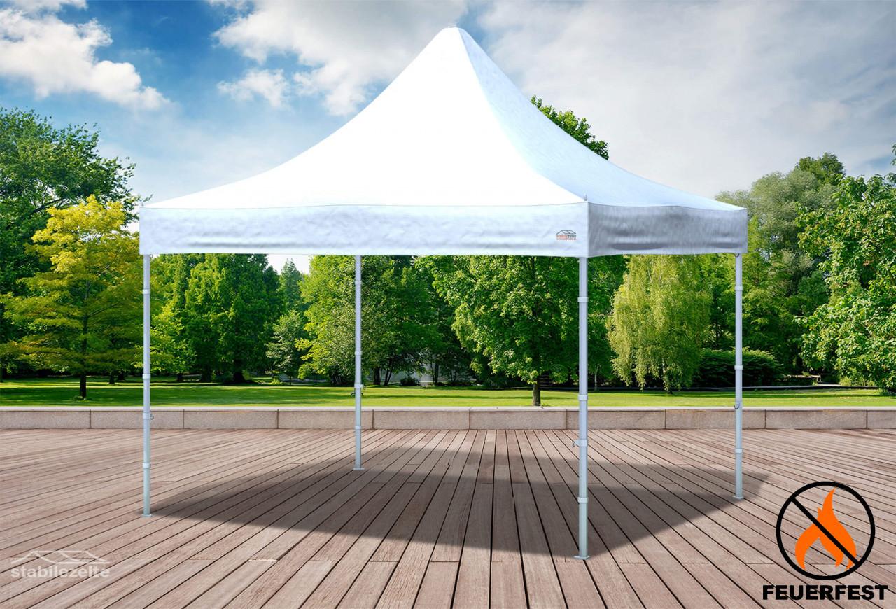 stabilezelte 3x3 m Faltpavillon Prof.+ ALU FR PVC 550 g/m² - 100 % wasserdicht - Weiß