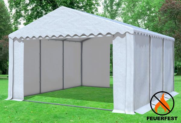 5x6 m Partyzelt, 2,6m Seitenhöhe PVC feuersicher weiß