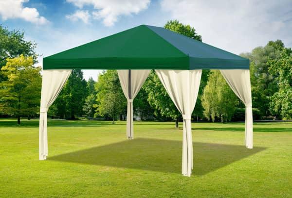 3x4 m Pavillon, Premium PVC Sahara grün