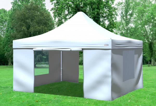 4x4 m Faltpavillon, weiß