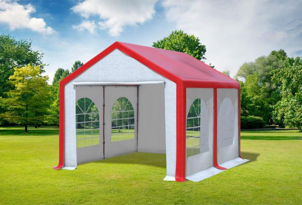 3x4 m Partyzelt, PVC rot weiß