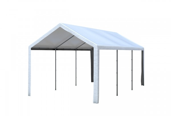 3x6 m Dachplane PVC weiß inkl. Zubehör