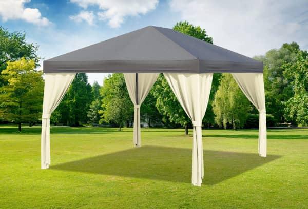 3x4 m Pavillon, Polyester PVC Sahara anthrazit