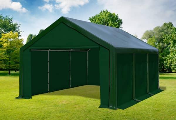 4x6 m Partyzelt, PVC grün