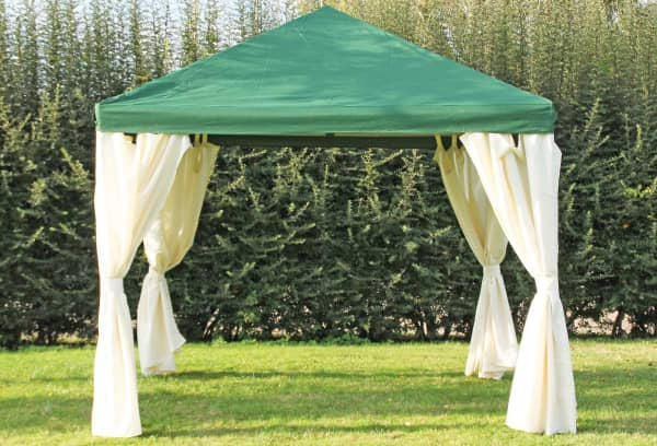 3x3 m Pavillon, Polyester PVC Sahara grün