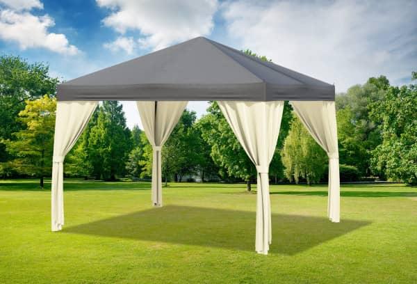 3x3 m Pavillon, Polyester PVC Sahara anthrazit