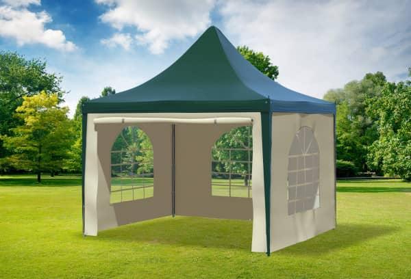 3x3 m Pavillon, PVC Arabica grün beige