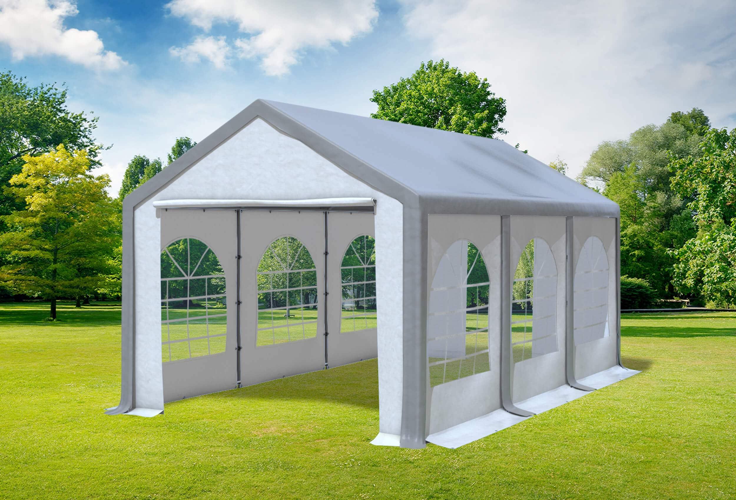 3x6 m partyzelt pvc modular pro pvc grau wei profi zelt versandkostenfrei. Black Bedroom Furniture Sets. Home Design Ideas
