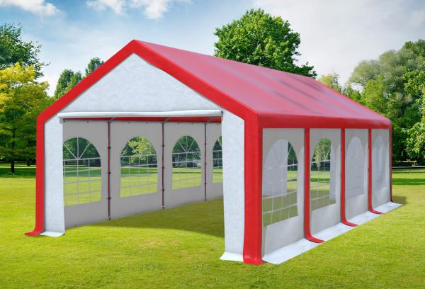 Stabilezelte Partyzelt Festzelt 4x8m Modular Pro PVC wasserdicht rot / weiß 1248251