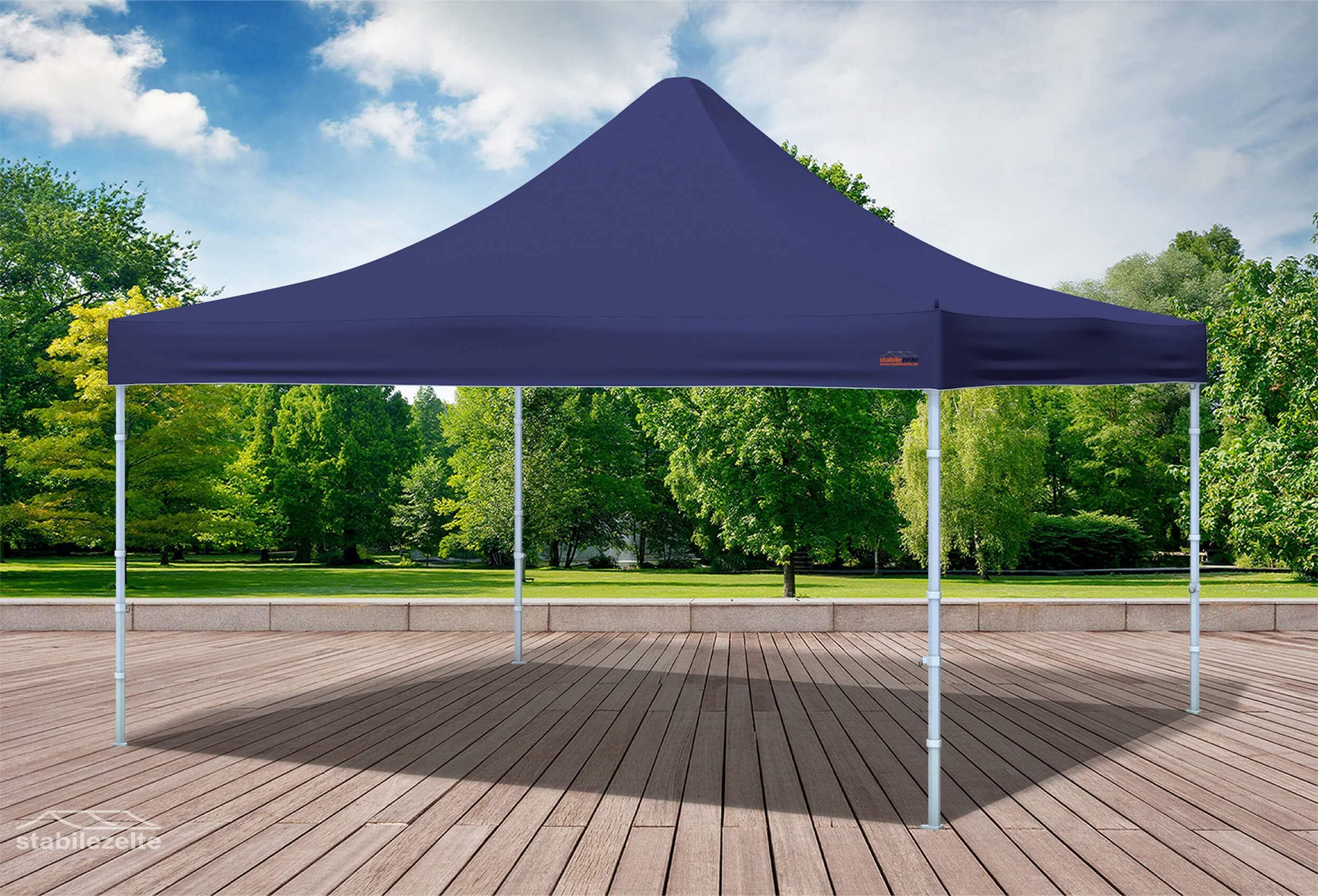 4x4 m faltpavillon blau professional plus serie faltpavillons. Black Bedroom Furniture Sets. Home Design Ideas