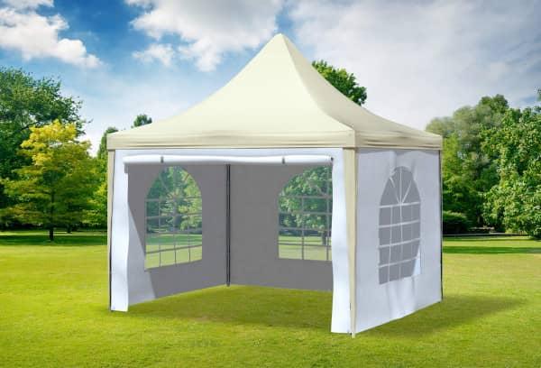 3x3 m Pavillon, PVC Arabica beige weiß