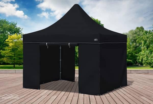 3x3 m Faltpavillon, schwarz