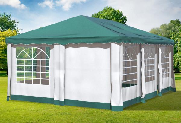 4x6 m Pavillon, Polyester PVC Deluxe grün