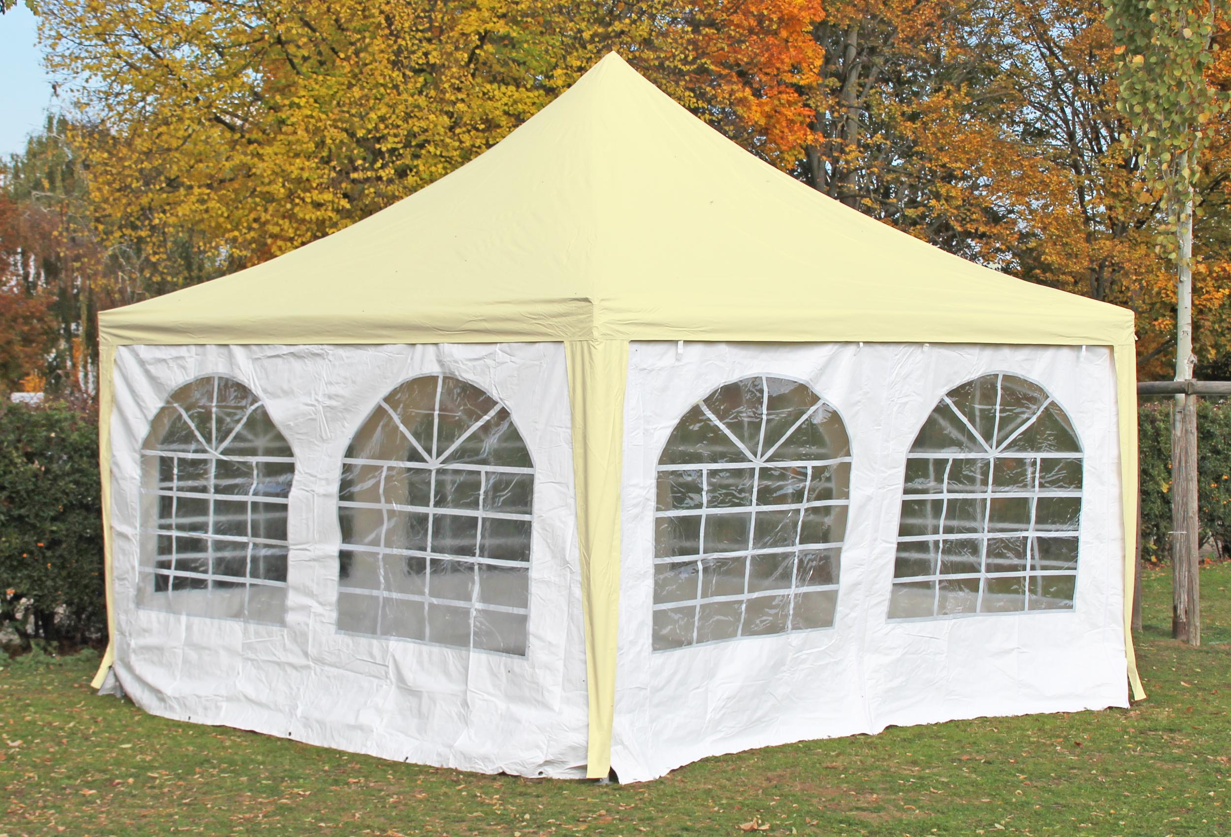 pavillon 4x4 meter arabica pvc beige wei inkl seitenteile kostenfreie lieferung 4x4. Black Bedroom Furniture Sets. Home Design Ideas