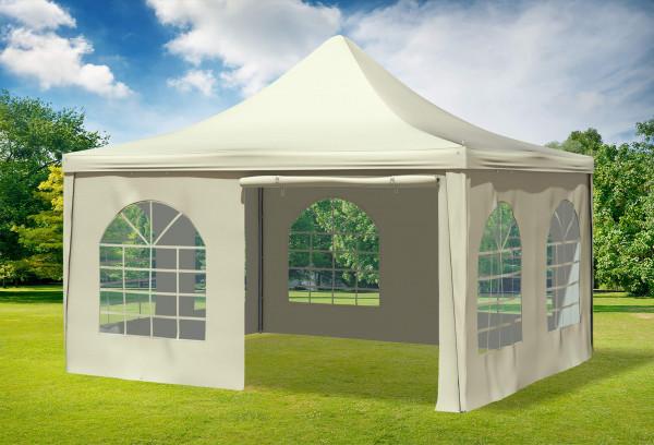 4x4 m Pavillon, PVC Arabica beige