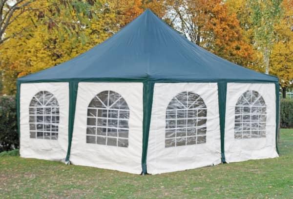 5x5 m Pavillon, PVC Arabica grün weiß