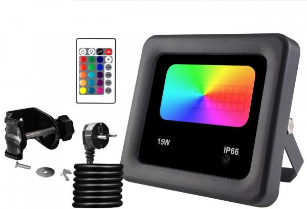 LED Strahler 15W, RGB