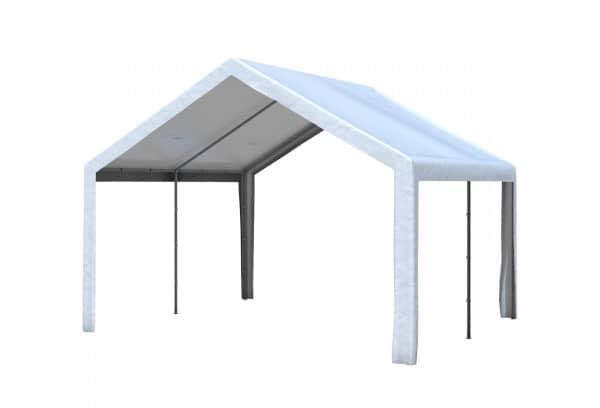 4x4 m Dachplane PE weiß inkl. Zubehör