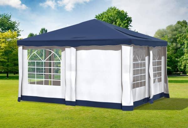 4x4 m Pavillon, Polyester PVC Deluxe blau