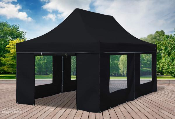 3x6 m Faltpavillon, schwarz