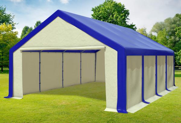 5x8 m Partyzelt, PVC blau beige