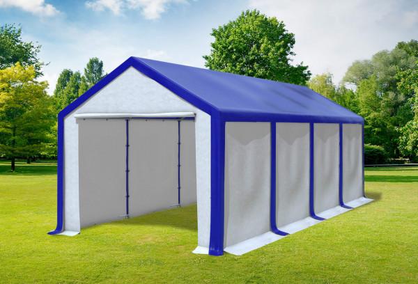 3x8 m Partyzelt, PVC blau weiß