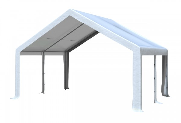 5x4 m Dachplane PVC weiß inkl. Zubehör
