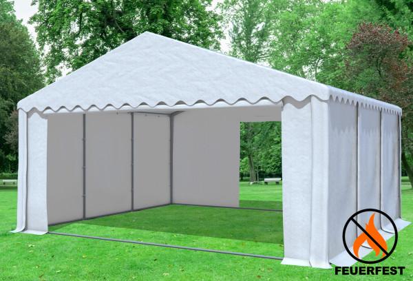 6x6 m Partyzelt, 2,6m Seitenhöhe PVC feuersicher weiß