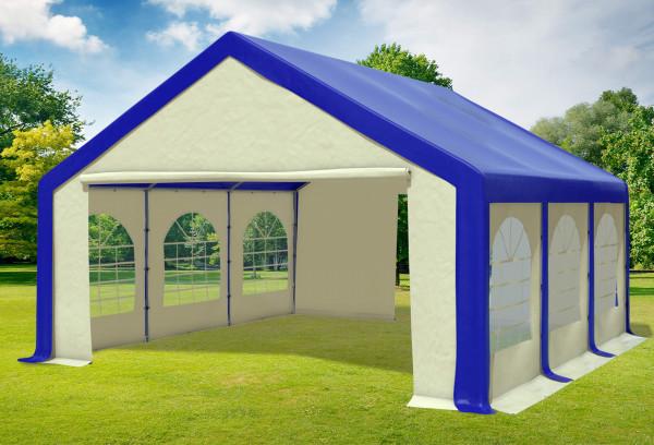 5x6 m Partyzelt, PVC blau beige
