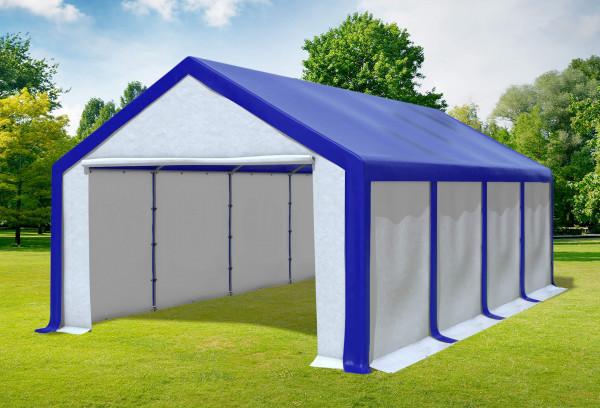 4x8 m Partyzelt, PVC blau weiß