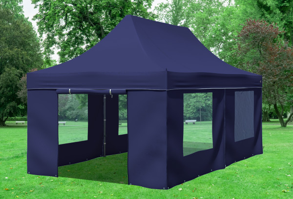 3x6 m Faltpavillon, blau