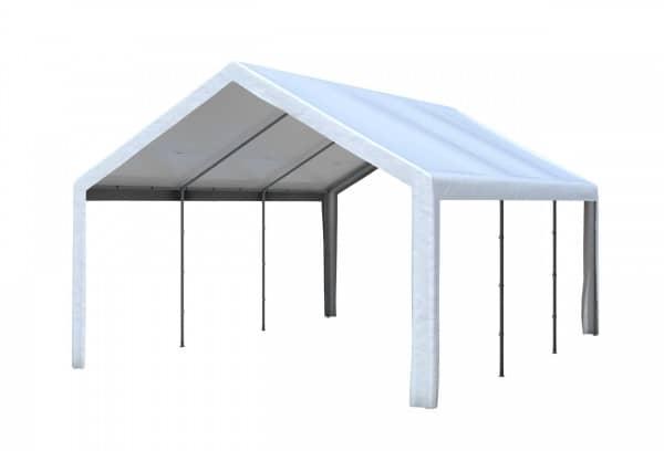4x6 m Dachplane PVC weiß inkl. Zubehör
