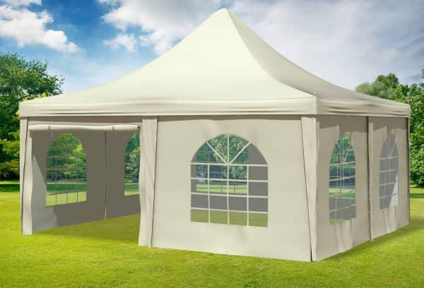 5x5 m Pavillon, PVC Arabica beige