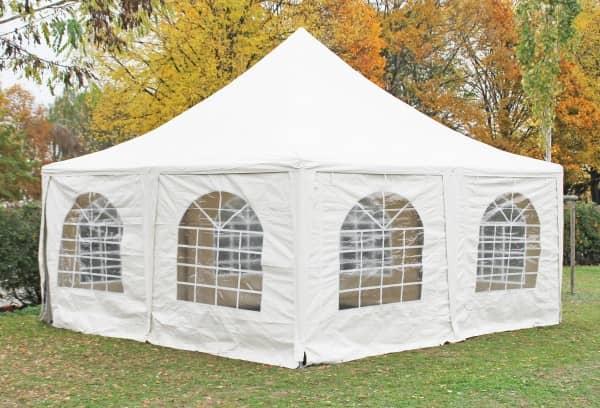 5x5 m Pavillon, PVC Arabica weiß