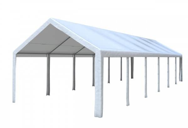 4x12 m Dachplane PE weiß inkl. Zubehör