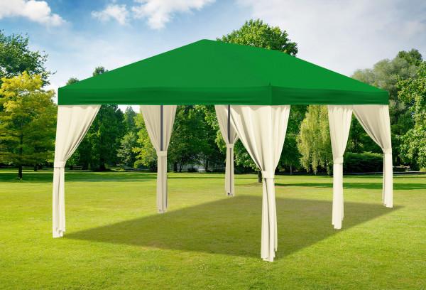 3x6 m Pavillon, Polyester PVC Sahara grün