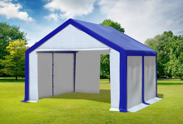 4x4 m Partyzelt, PVC blau weiß