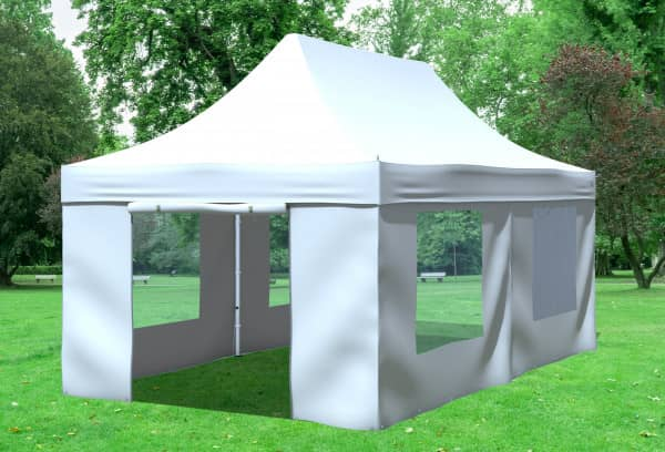 3x6 m Faltpavillon, weiß