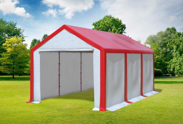 3x6 m Partyzelt, PVC rot weiß