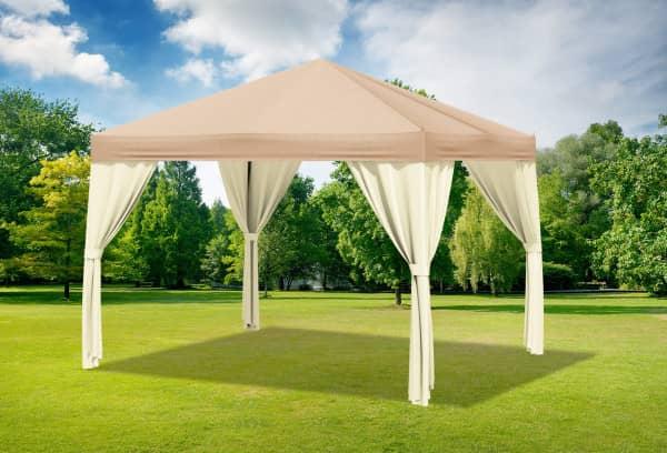 3x4 m Pavillon, Premium PVC Sahara braun