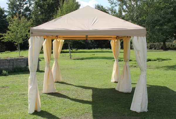 Stabilezelte Pavillon 3x6m braun Polyester Gartenpavillon Sahara wasserdicht 603639