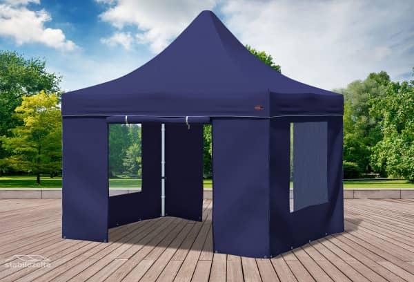 3x3 m Faltpavillon, blau