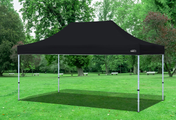 3x4,5 m Faltpavillon, schwarz