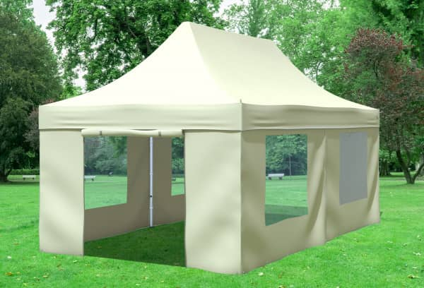 3x6 m Faltpavillon, beige