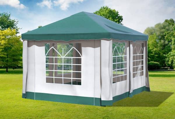 3x4 m Pavillon, Premium PVC Deluxe grün
