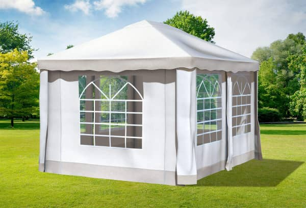 3x4 m Pavillon, Polyester PVC Deluxe braun